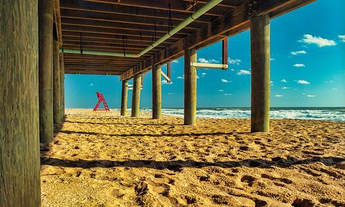 red blackandwhite beach analog mediumformat sand florida 120film mamiyarb67 flaglerbeach kodakektar manfrotto190xprob handheldlightmeter mamiyasekor50mmc topazadjust5 lightroom5 gossensuperpilot 496rc2ballhead sammysantiago