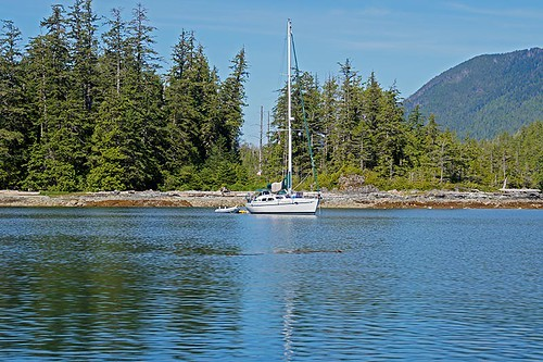 Sailboat at Bunsby Islands, Big Bunsby Marine Park, Vancouver Island, British Columbia. Photo: Santa Brussouw.