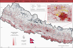 Nepal 2015 Earthquake Logistical Reference Map