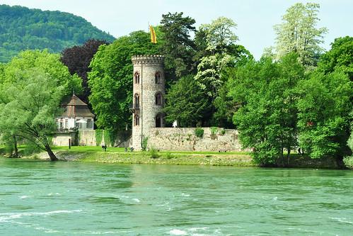 Bad Säckingen Hochrhein Rhein Barock-Teehäuschen Diebsturm