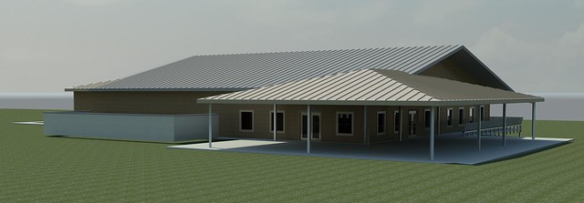 Camp Aldrich new rendering back view