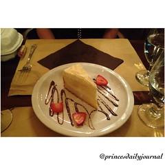 "Dessert. #whatsprinceeating: ""I have no idea of what the name is--lemon short cake?!"" www.princesdailyjournal.com #blameitonthewine #princeinthecity #princesdailyjournal #foodie #foodart #datenight #fridaynight #dessert #sandiego #myfab5 @bestfoodsandiego"