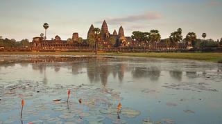 Angkor Wat at dusk, Siem Reap, Cambodia