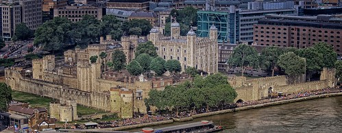 Tower of London, taken from The Shard