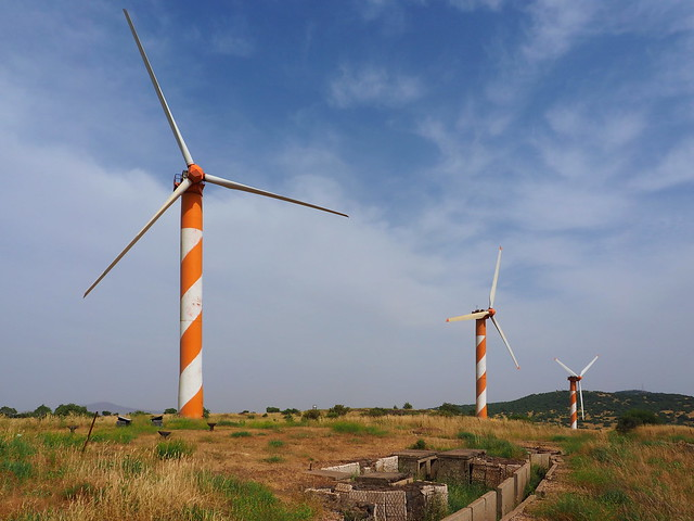 Turbines and an old military bunker