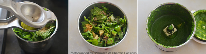 How to make Green Chutney - Step2