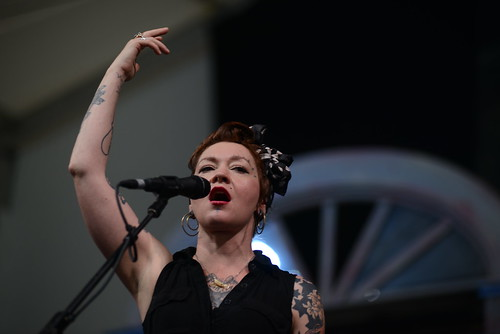 Meschiya Lake at Jazz Fest 2016.  Photo by Leon Morris.