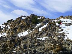 John moves up the alpine slopes