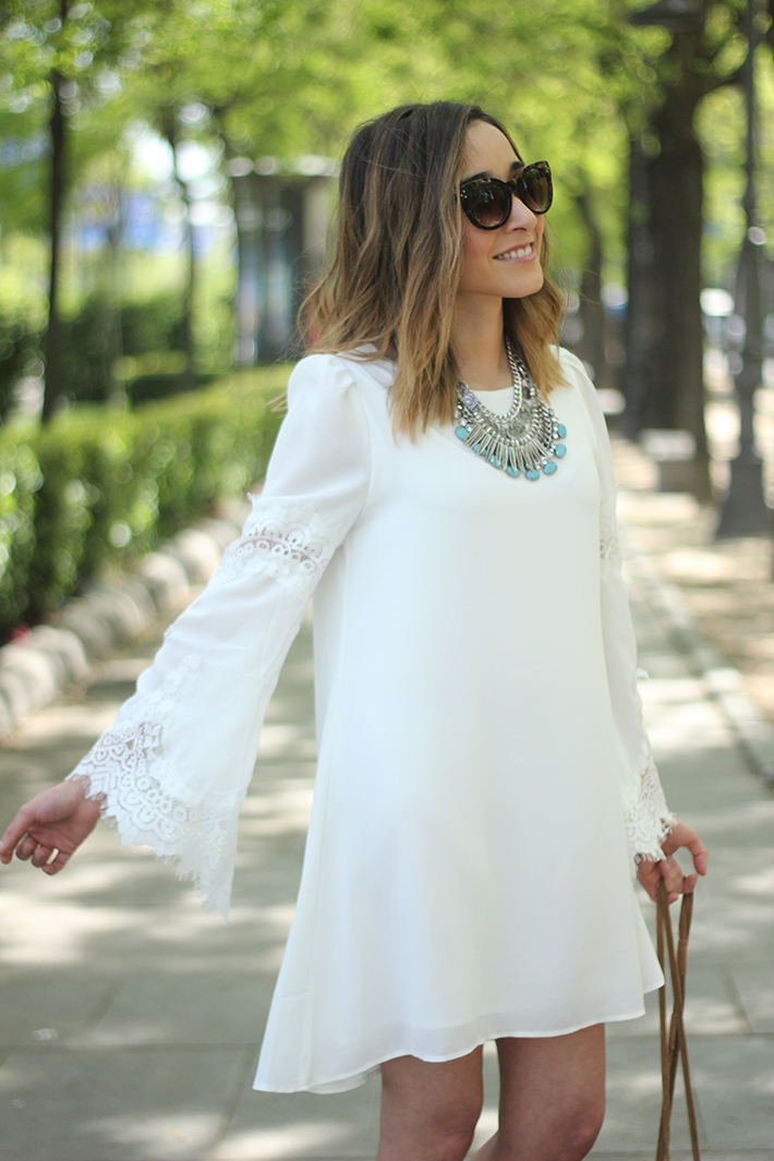 white dress with lace sleeves15
