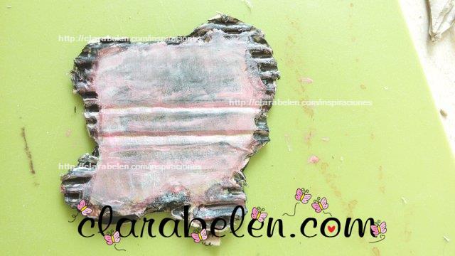 Falso carton quemado para scrapbook