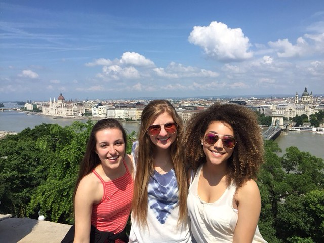 On top of the city with fellow study abroad students