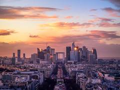 Vue de la Défense depuis le toit de l'Arc de Triomphe - Paris VIII / XVI / XVIIe arr.