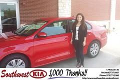 Congratulations to Cynthia Lynch on your #Volkswagen #Jetta Sedan from Zane Beadles at Southwest KIA Rockwall! #NewCar