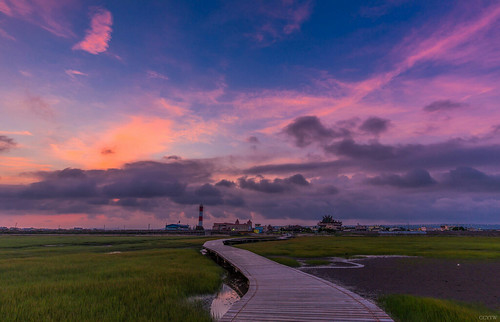 sunrise dawn wetlands taichung 台中 日出 高美 火燒雲 高美濕地