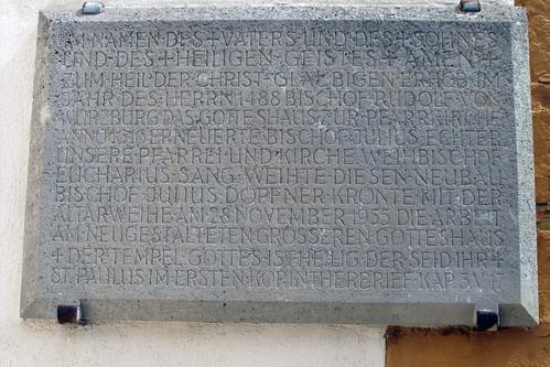 St. Ägidius, Wolfmannshausen, Gedenktafel