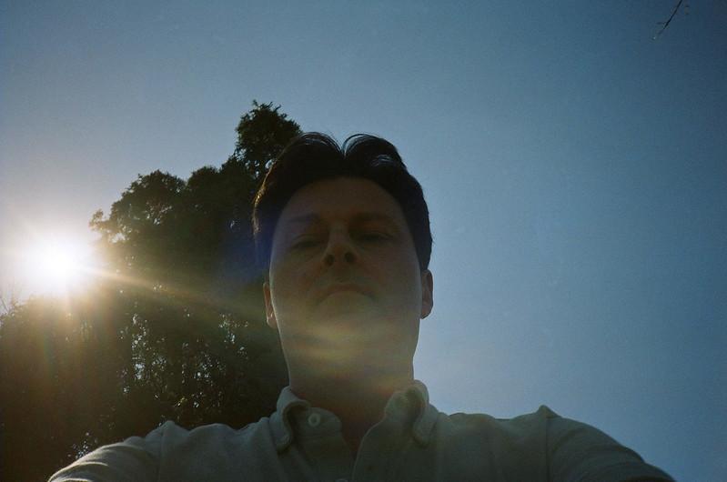 Selfie in the sun
