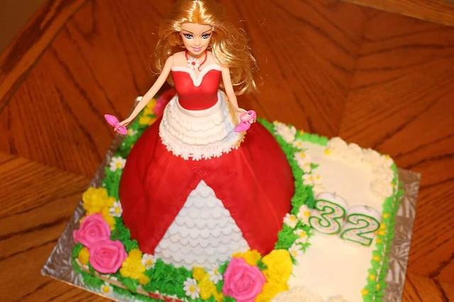 Barbie Themed Cake by Carren Schweer