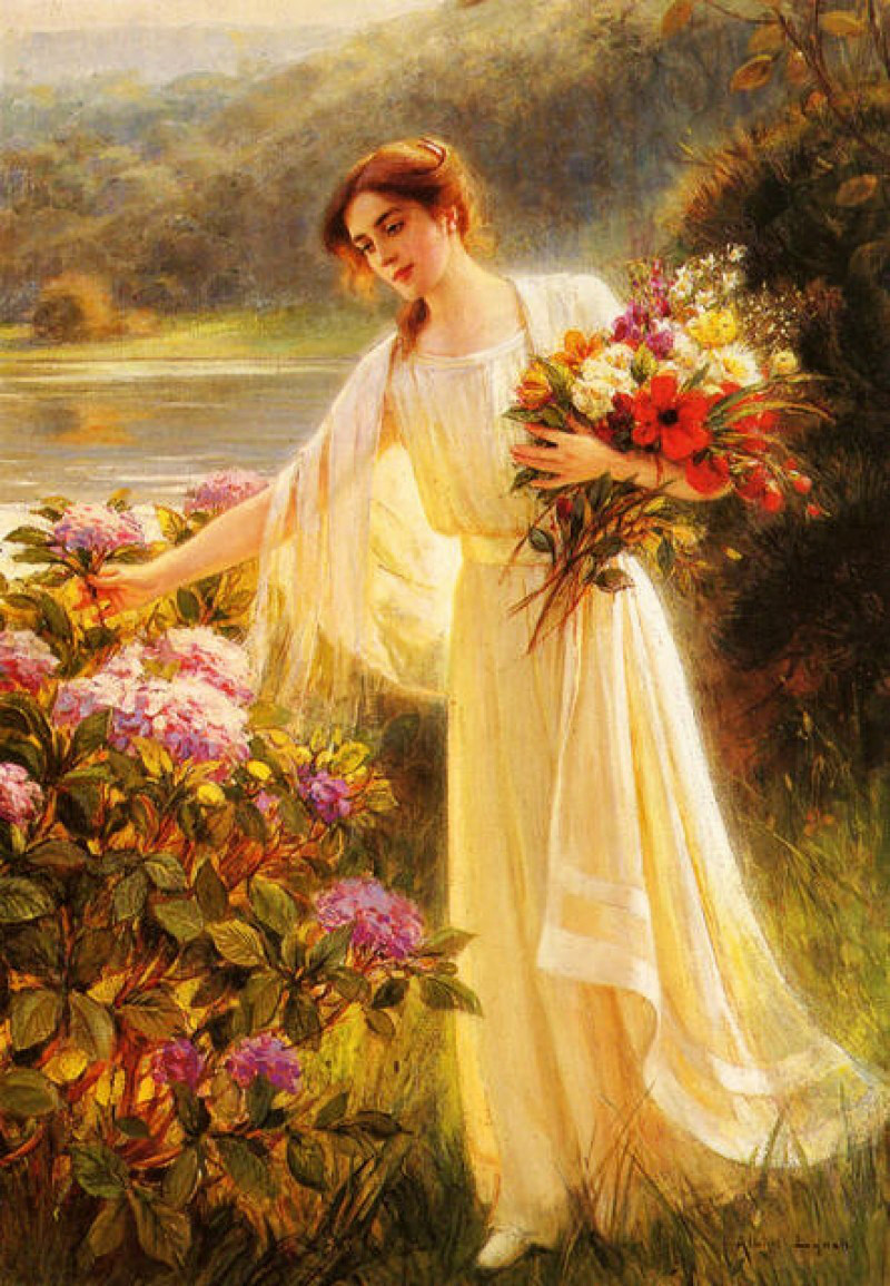 Gathering Flowers by Albert Lynch