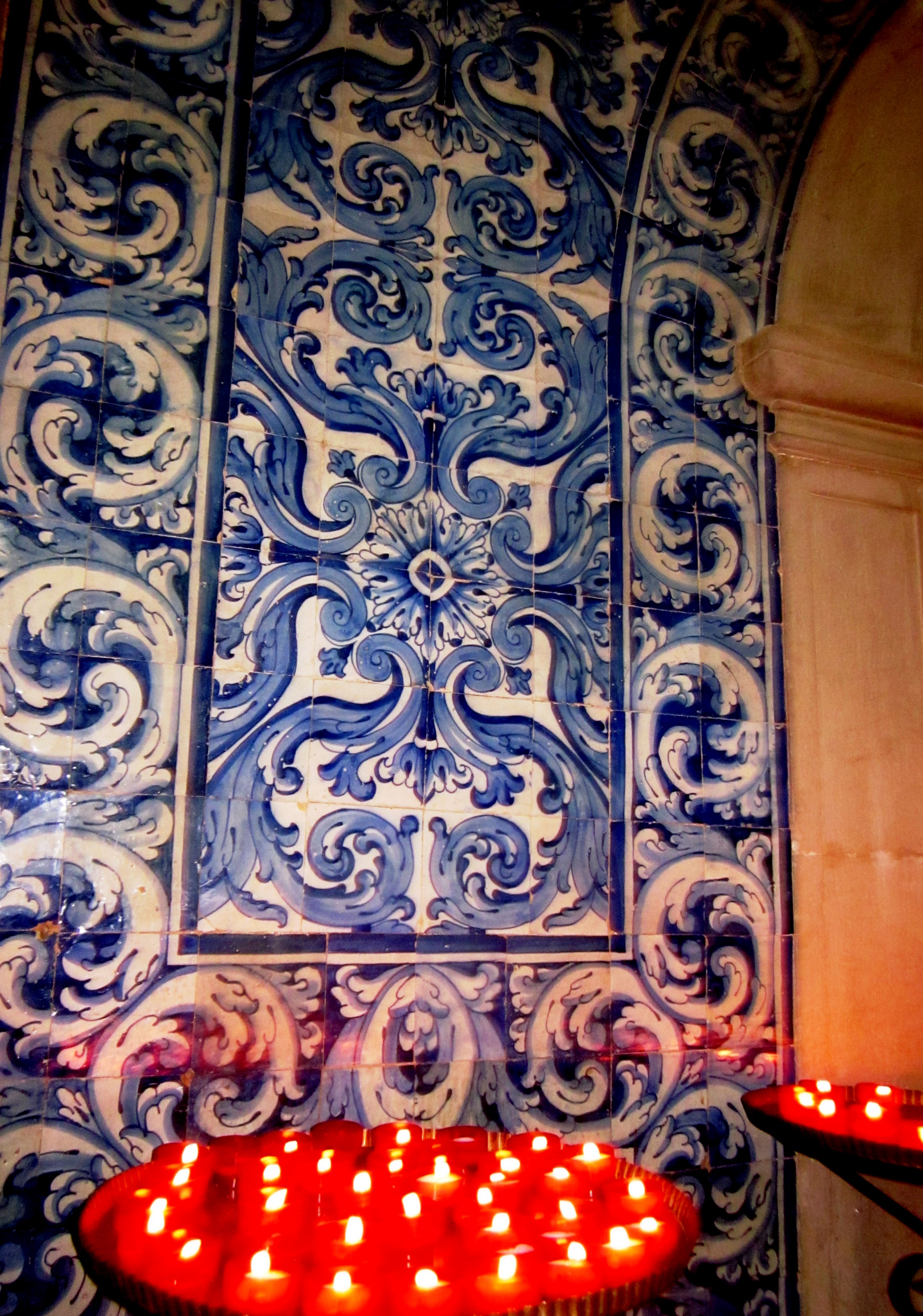 Tiles by candlelight - Obidos, Portugal