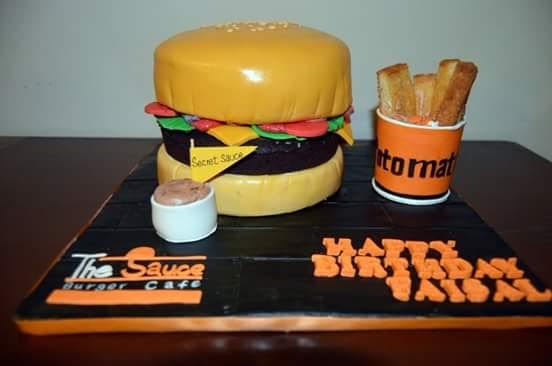 Burger Cake by Sabahat Ali