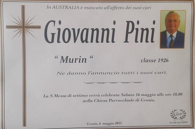 Pini Giovanni