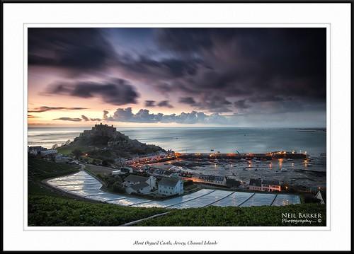 sea coast jersey channelislands gorey orgueilcastle neilbarkerphotography