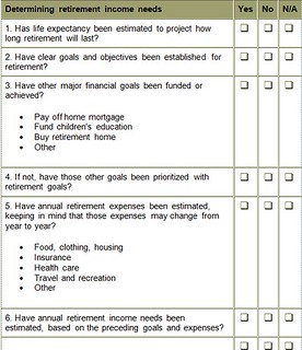 retirement checklist part 2