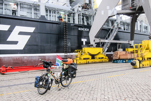 Cycling out of my cargo ship