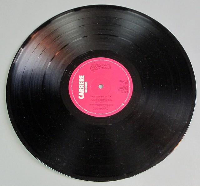 "SAXON WHEELS OF STEEL ENGLAND UK GB 12"" LP VINYL"