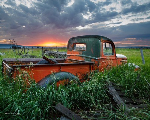 old sunset ford abandoned field truck sunrise rust farm rustic rusty rustbucket rusted
