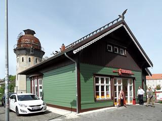 Rathenow - Kaiserbahnhof und Wasserturm