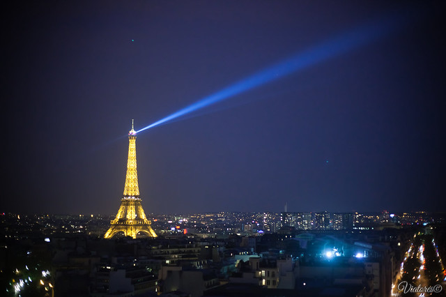 Вид с триумфальной арки. Париж. La tour Eiffel from Arc de Triomphe. Paris. France