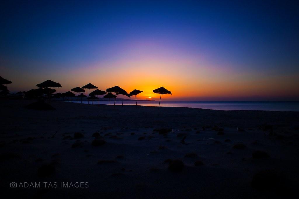 Sunrise at Hammamet beach