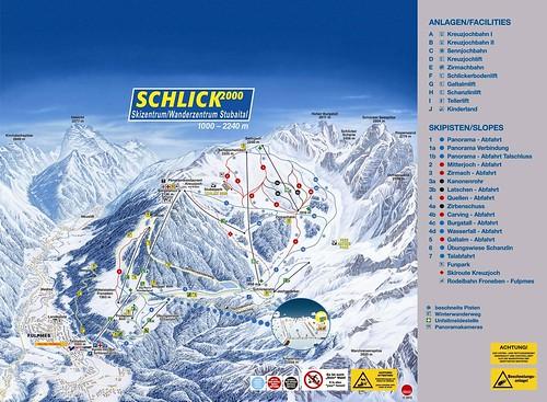 Schlick 2000 - mapa sjezdovek