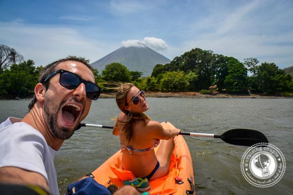 Kayaking on Isla Ometepe Nicaragua