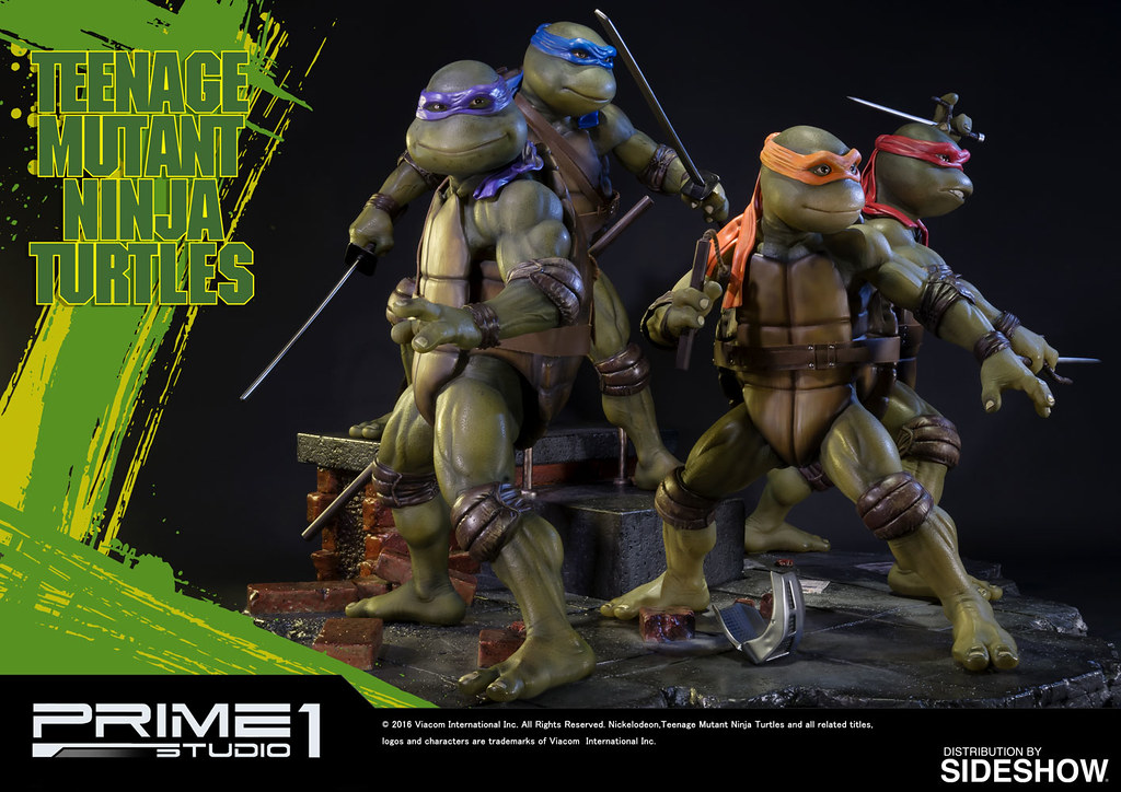 Prime 1 Studio【1990 忍者龜。Sideshow 限定】Teenage Mutant Ninja Turtles 1/4 比例全身雕像