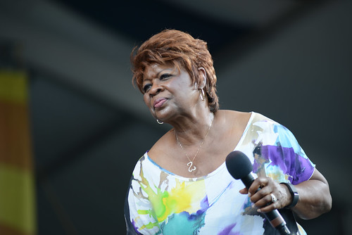 Irma Thomas at Jazz Fest 2016.  Photo by Leon Morris.