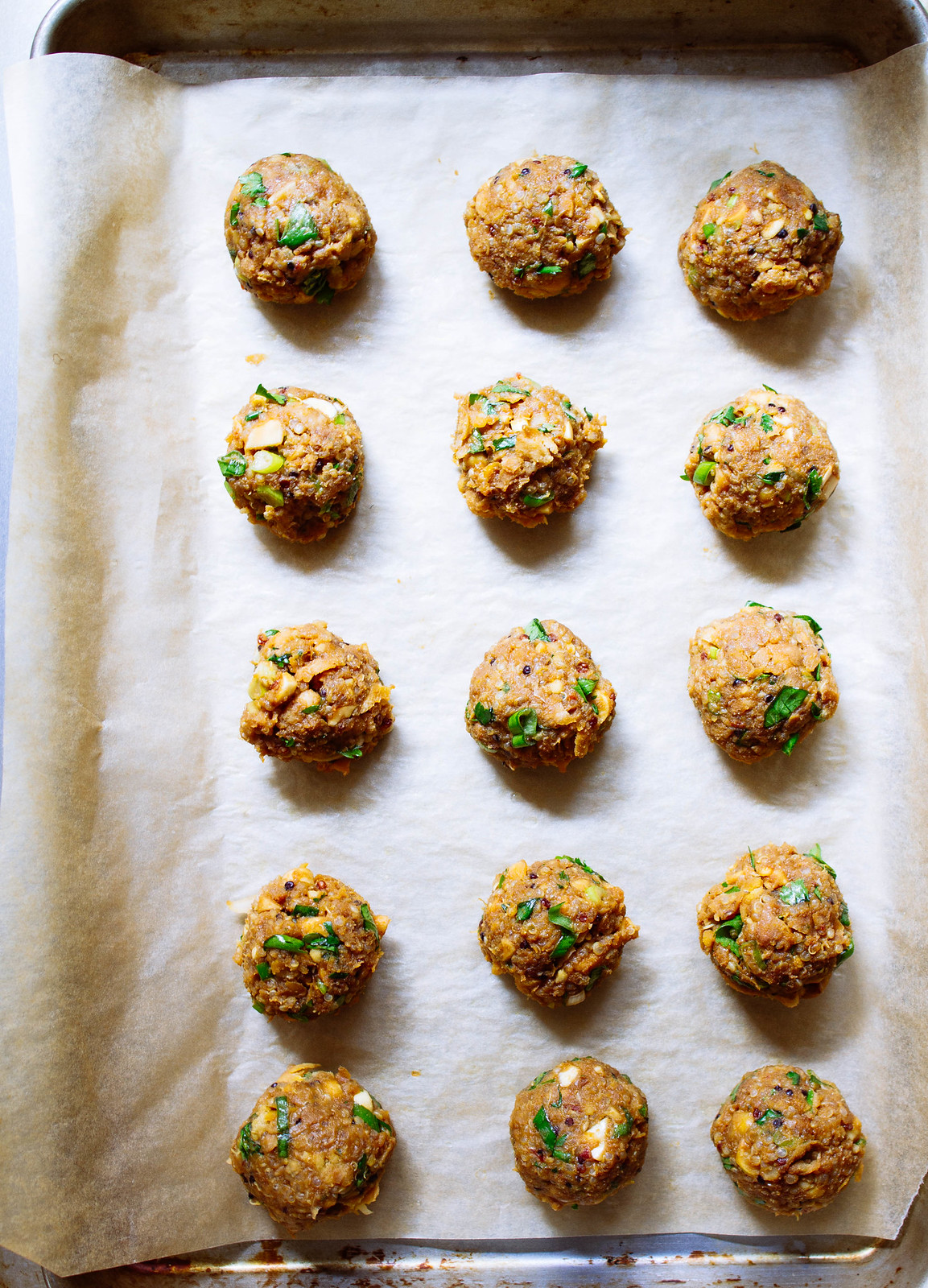 THAI QUINOA MEATBALLS + MINIMALIST BAKER'S EVERYDAY COOKING COOKBOOK