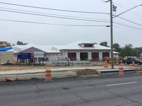 New Glenmont Fire Station #18 Update photos showing various stages of construction
