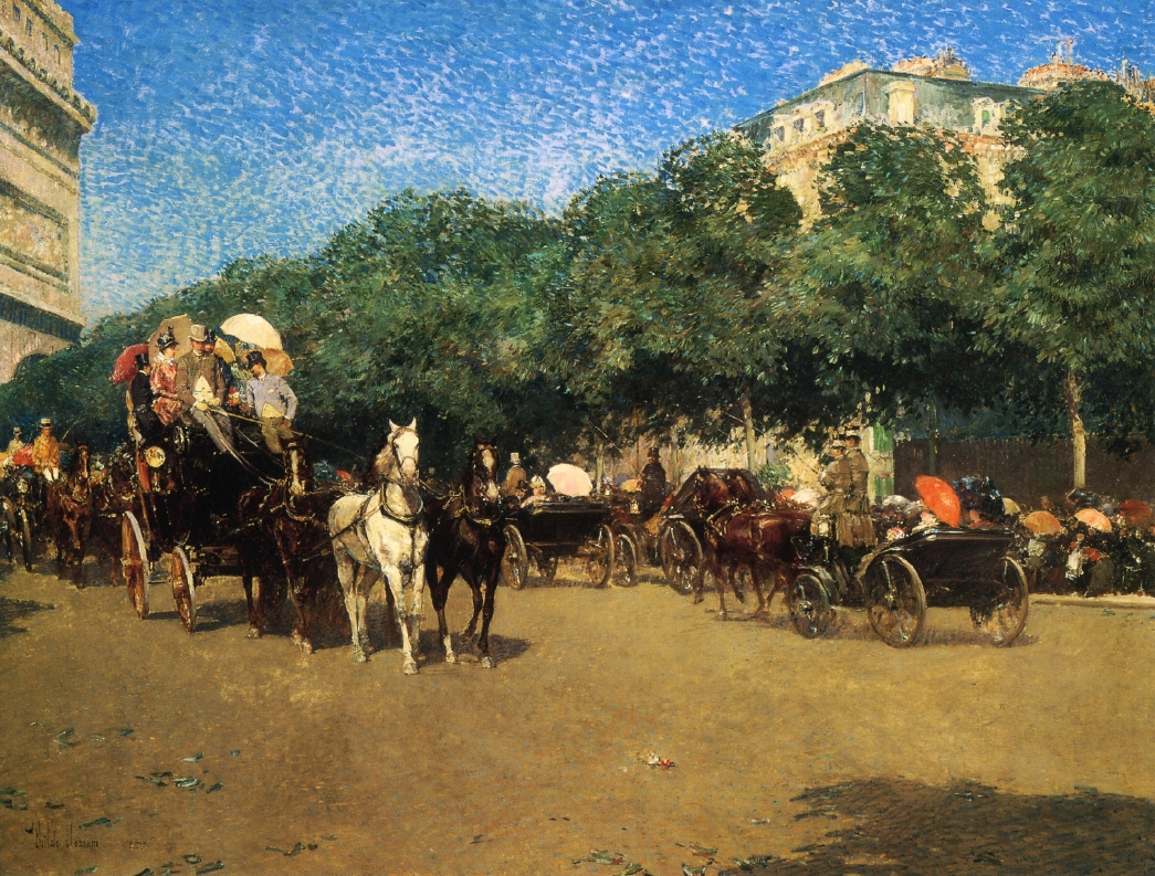 Grand Prix Day by Frederick Childe Hassam - 1887-1888