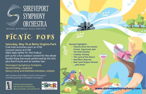 Shreveport Symphony Pops, BV Park, May 16