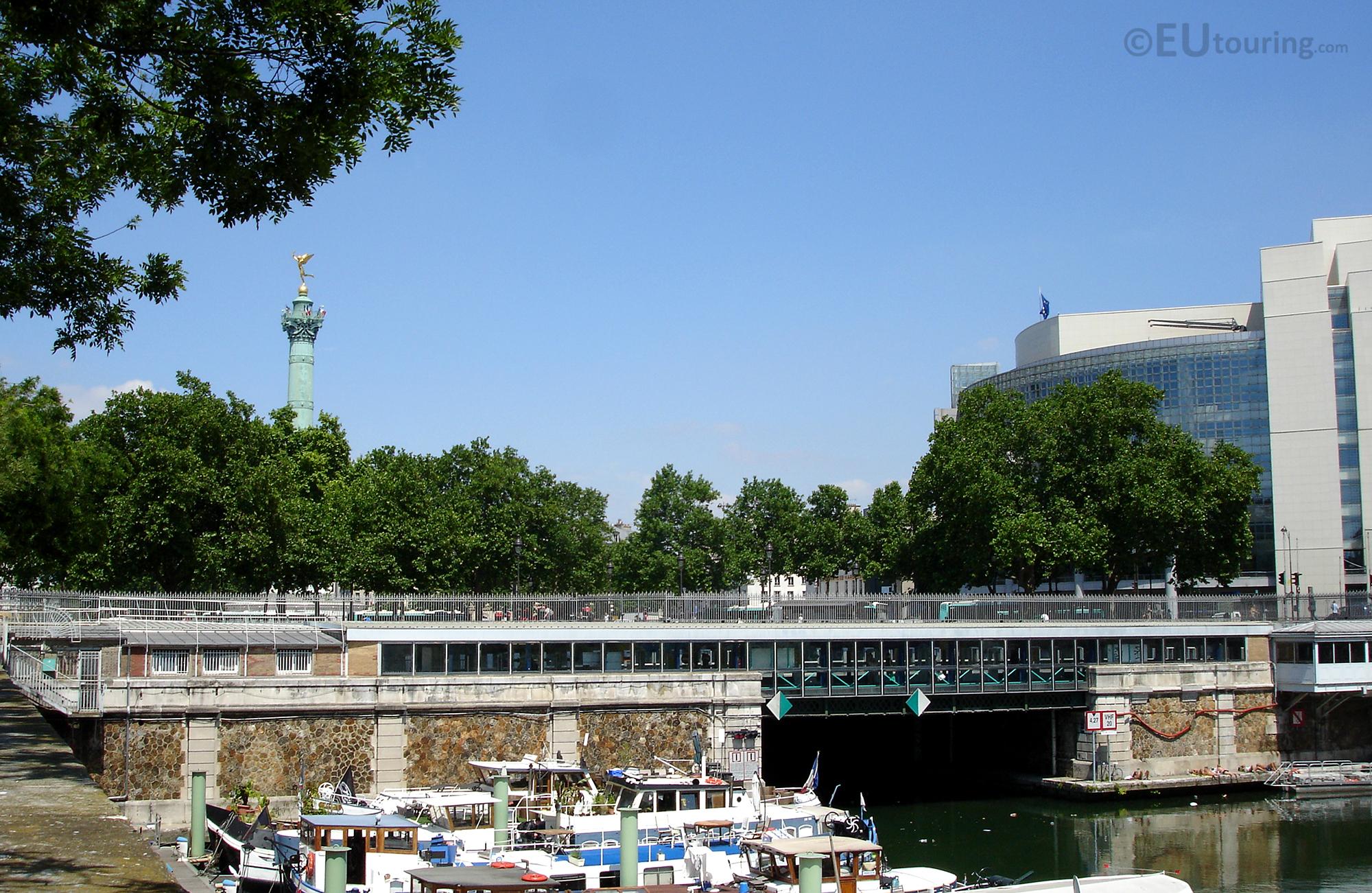Colonne de Juillet and Opera Bastille