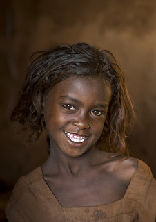 Smiling Borana Tribe Girl, Marsabit District, Marsabit, Kenya