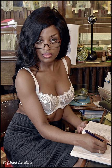 La secrétaire sexy.