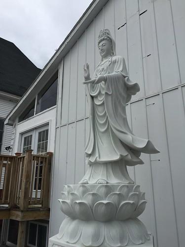 Bodhisattva Quan Yin welcoming devotees