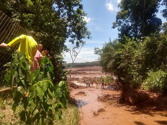 Duas barragens da Vale romperam nesta sexta (25) em Brumadinho (MG) - Créditos: Reprodução de WhatsApp