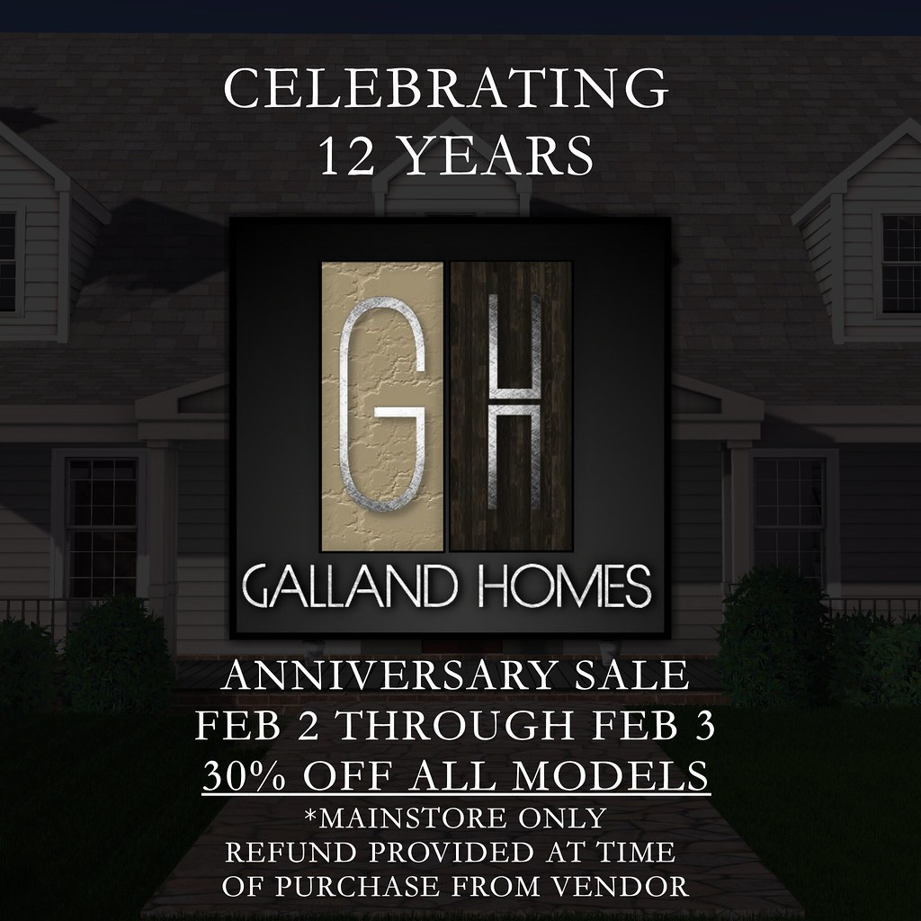 Galland Homes 12th Anniversary Sale