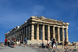 The Parthenon in summer