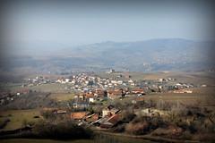 Vue depuis le chemin de ronde sur Saint-Laurent-d'Oingt # Oingt en Beaujolais # Rhône (69) . - Photo of Châtillon