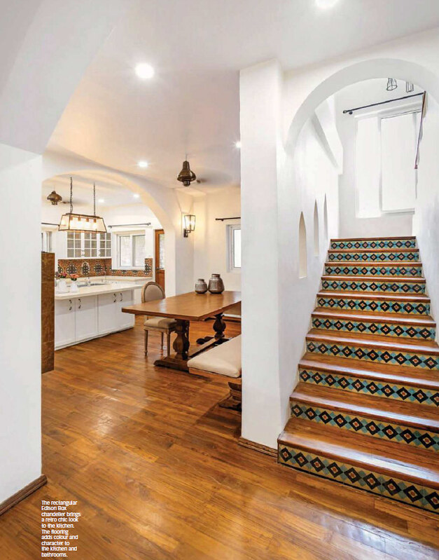 Tiled step risers at a Delhi home